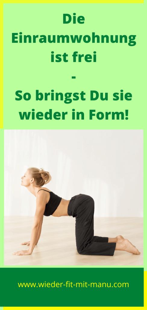 Nach 10 Monaten Einraumwohnung gönnst Du Deinem Körper am besten eine Pause, ehe Du mit dieser Übung langsam in Deine alte Fitness startest!